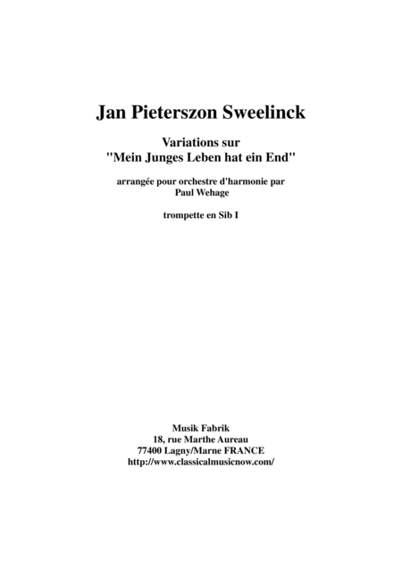 Jan Pieterszoon Sweelinck/Paul Wehage  - Variations on