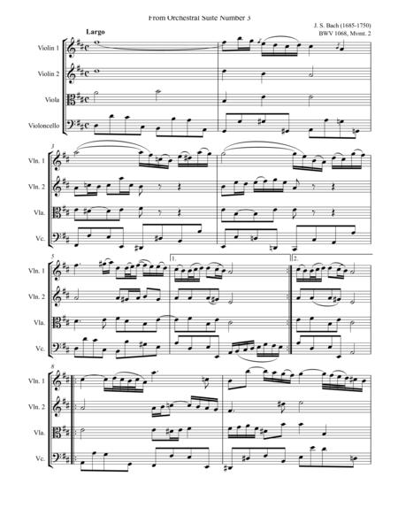 Bach Air String Quartet Arrangement