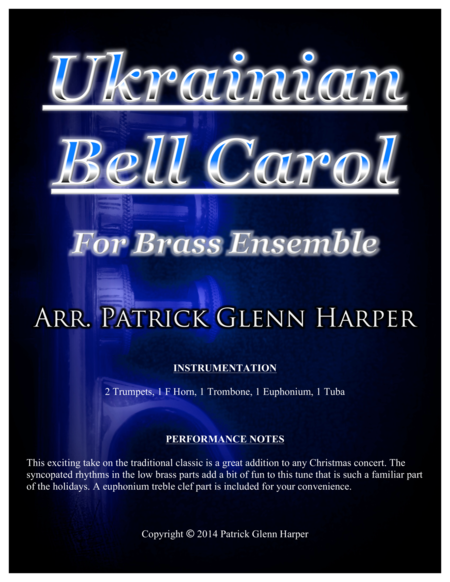 Ukrainian Bell Carol - For Brass Ensemble