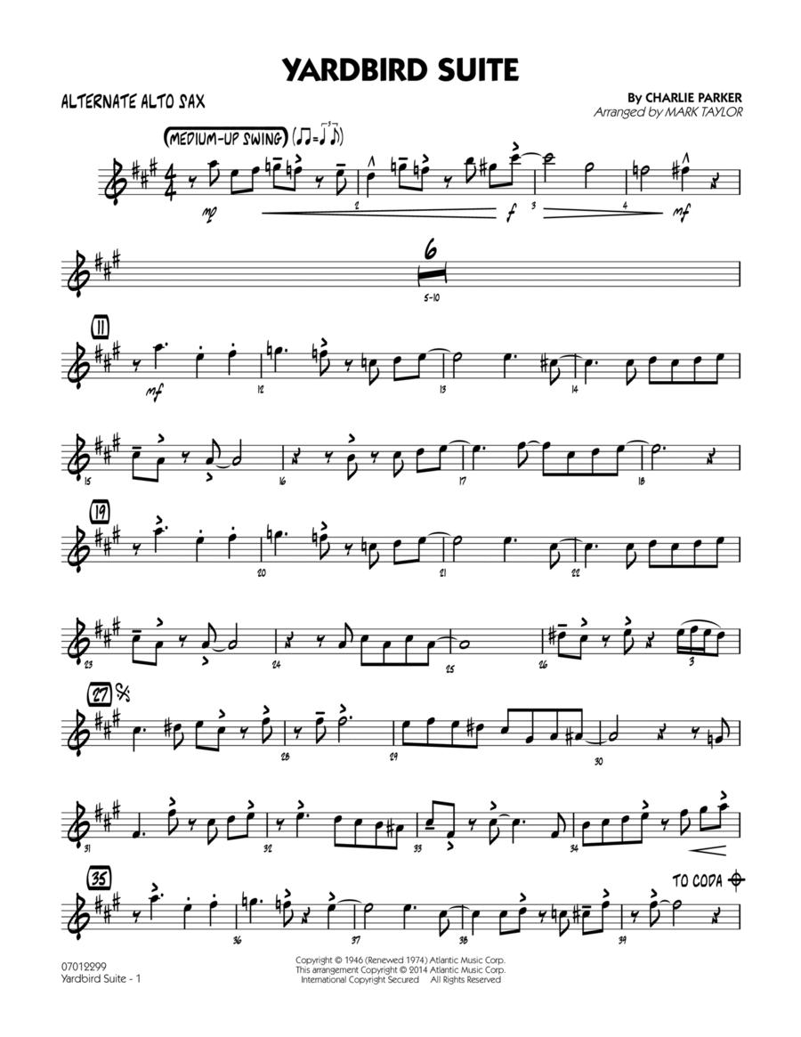 Yardbird Suite - Alternate Alto Sax