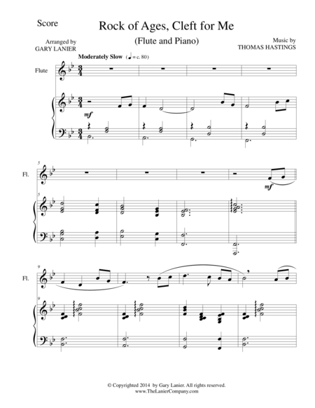 ROCK OF AGES (Flute/Piano and Flute Part)