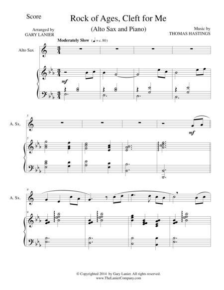 ROCK OF AGES (Alto Sax/Piano and Sax Part)