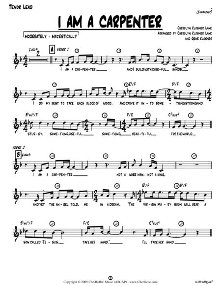 I Am a Carpenter (Joseph's Song) [Lead Sheet w/Acoustic Guitar - Key of F]