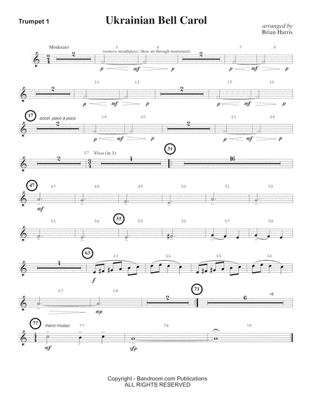 Ukrainian Bell Carol (concert band - very easy - score, parts, and license to photocopy)