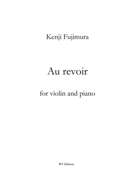 Au revoir for violin and piano