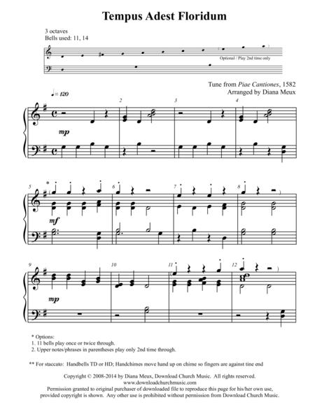 Tempus Adest Floridum (Handbells or handchimes - 3 octaves)