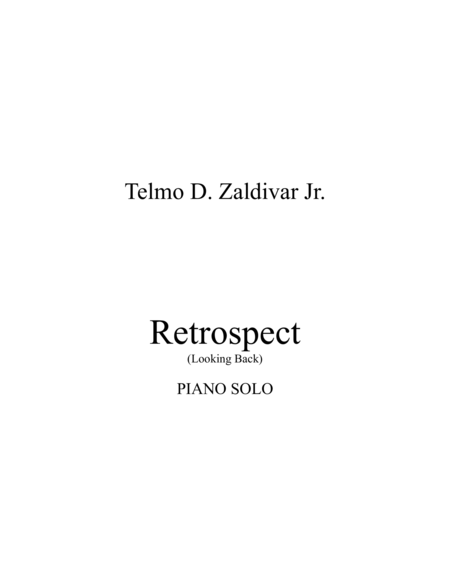 Retrospect (Looking Back)