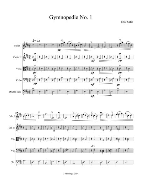 erik satie gymnopedie no 1 sheet music pdf