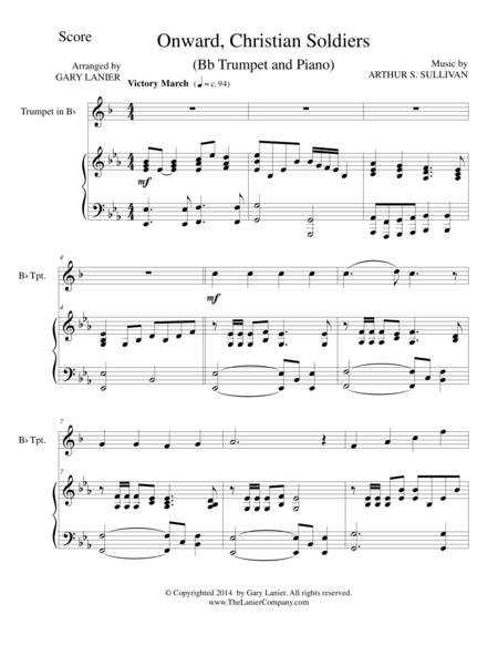 ONWARD, CHRISTIAN SOLDIERS (Bb Trumpet/Piano and Trumpet Part)