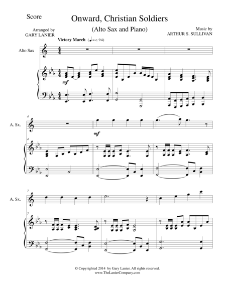 ONWARD, CHRISTIAN SOLDIERS (Alto Sax/Piano and Sax Part)