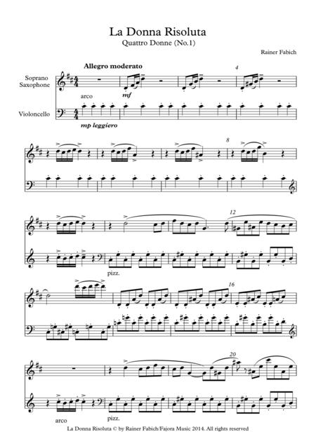La Donna Risoluta - No.1 from Quattro Donne / Four Ladies