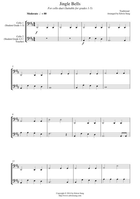 Jingle Bells (for cello duet, suitable for grades 1-5)