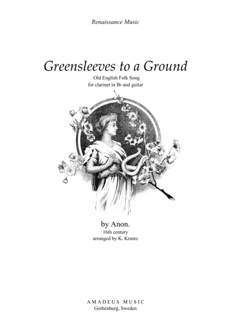Greensleeves variations for clarinet in Bb and guitar