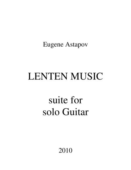 Lenten Music for solo Guitar