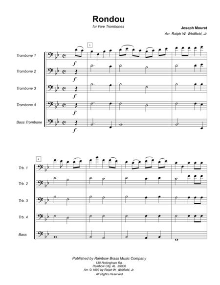 Rondou - Mouret for trombone quintet