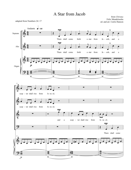 A Star from Jacob (SATB)