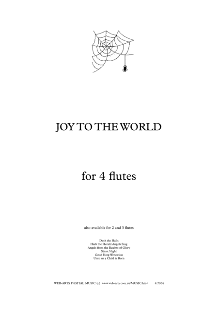 JOY TO THE WORLD for 4 flutes