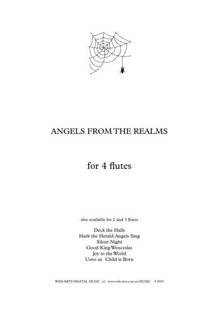 ANGELS FROM THE REALMS OF GLORY for 4 flutes