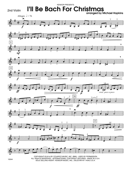 I'll Be Bach For Christmas - 2nd Violin