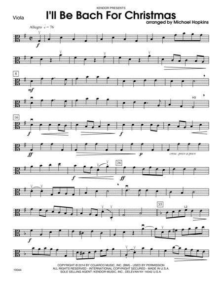 I'll Be Bach For Christmas - Viola