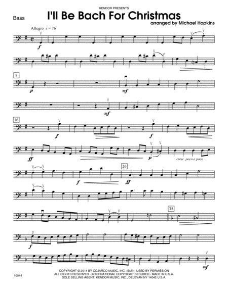 I'll Be Bach For Christmas - Bass