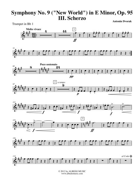 Dvorak Symphony No. 9, New World, Movement III - Trumpet in Bb 1 (Transposed Part), Op.95