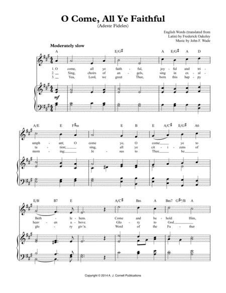 O Come, All Ye Faithful (Adeste Fideles)
