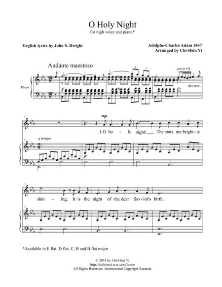 O Holy Night [high, E flat major]