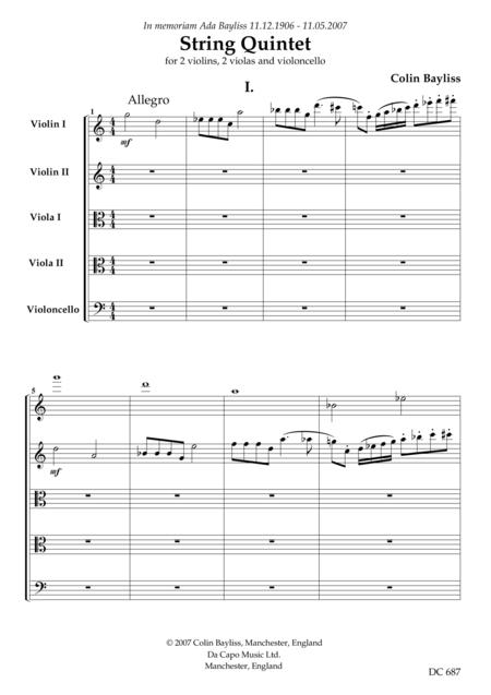 STRING QUINTET (score)