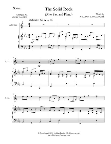 THE SOLID ROCK (Alto Sax/Piano and Sax Part)