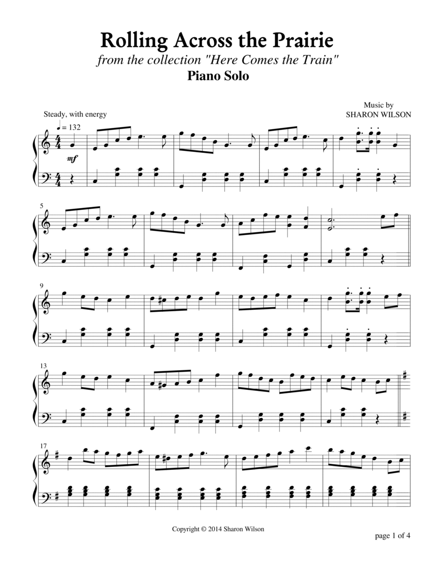 Rolling Across the Prairie (Piano Solo)