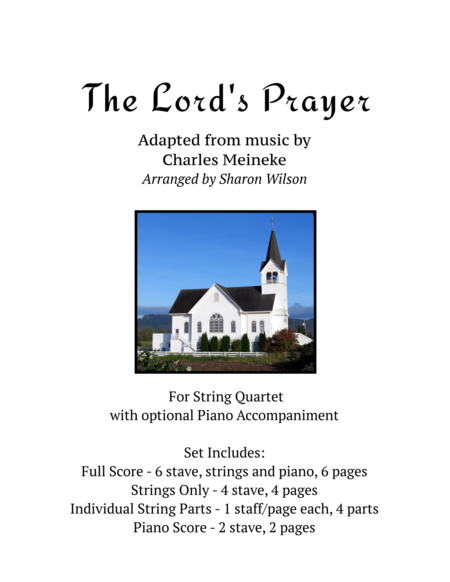 The Lord's Prayer (for string quartet with optional piano accompaniment)