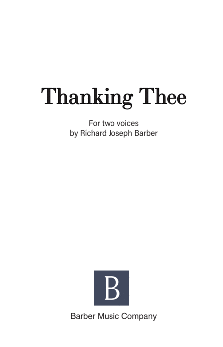 Thanking Thee