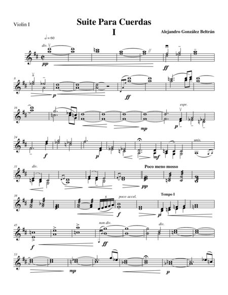 Suite for String Orchestra (Mov I) Violin II part