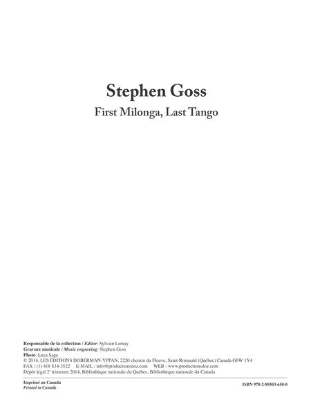 First Milonga, Last Tango