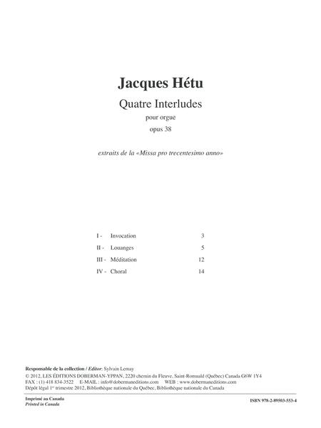 Quatre Interludes, opus 38