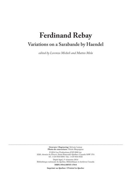 Variations on a Sarabande by Haendel