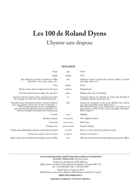 Les 100 de Roland Dyens - L' hymne sans drapeau