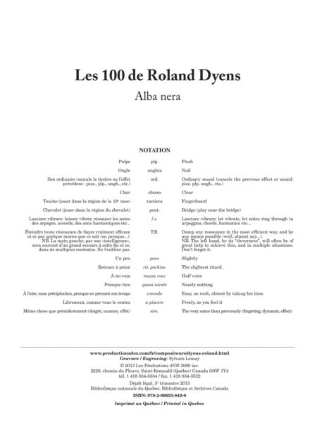Les 100 de Roland Dyens - Alba nera