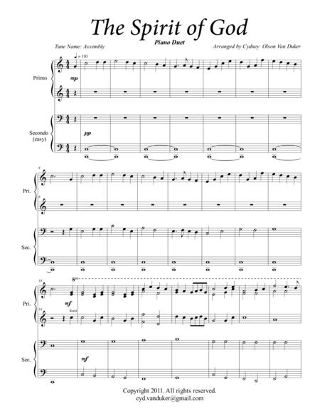 The Spirit of God  piano duet