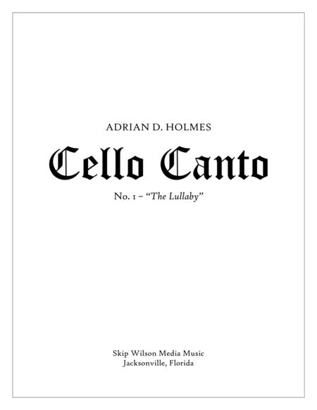 Cello Canto No. 1,