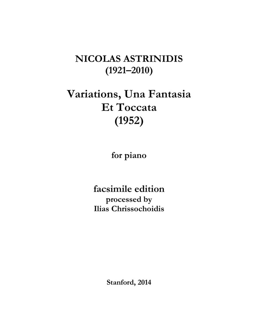 Variations, Quasi Una Fantasia Et Toccata