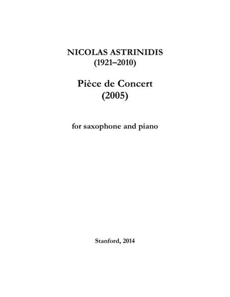 Pièce de Concert
