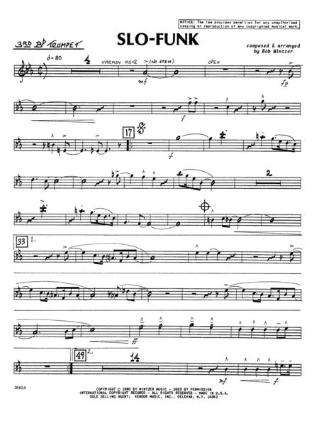 Slo-Funk - 3rd Bb Trumpet