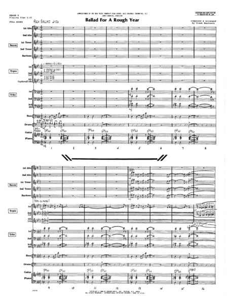 Ballad For A Rough Year - Full Score