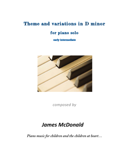 Theme and variations in D minor