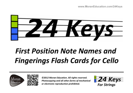 Cello First Position Flash Cards