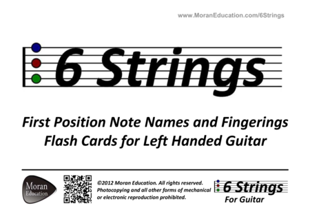 Left Handed Guitar Flash Cards