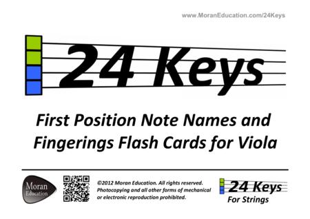 Viola Flash Cards