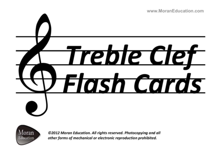 Treble Clef Flash Cards